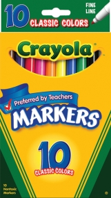 Crayola Classic 10CT Fine Line Markers
