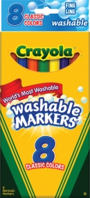 Crayola 8CT Classic Fine Line Washable Markers