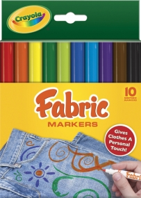 Crayola - 10 CT Fabric Markers