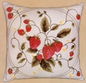 Latticed Strawberry Pillow