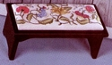 Colonial Flowers Stool Cover/Pillow