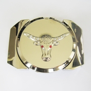 Belt Buckle (Silver Longhorn Bull Lighter)