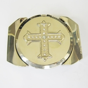 Belt Buckle (Silver Rhinestone Iron Cross Lighter)