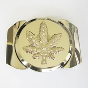 Belt Buckle (Silver Marple Leaf Lighter)