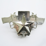 Belt Buckle (Bright Silver Guns Star Lighter)
