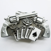 Belt Buckle (Gun Royal Flush Poker Spinner Lighter)