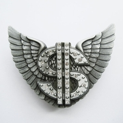 Belt Buckle (Rhinestones Angel Wings US Dollar Lighter)