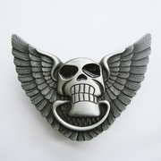Belt Buckle (Angel Wings With Skull Lighter)