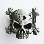 Belt Buckle (Motorcycle Chain Skull Lighter)