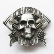 Belt Buckle (Original Emo Skull Flag Lighter)