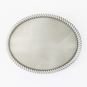 Western Rope Top Classic Vintage Oval Blank Belt Buckle