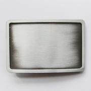 Antique Silver Rectangle Blank Belt Buckle