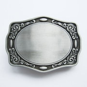 Western Flowers Trims Blank Belt Buckle