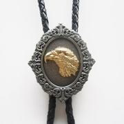 New Jeansfriend Vintage Original Western Eagle Head Wedding Bolo Tie Leather Necklace