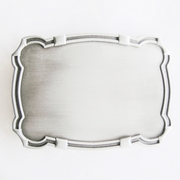 Western Edge Blank Belt Buckle