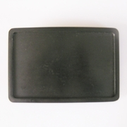 Classic Black Rectangle Blank Belt Buckle