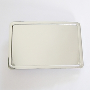 Classic Bright Silver Rectangle Blank Belt Buckle
