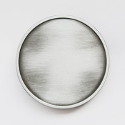 Antique Brushed Silver Round Blank Belt Buckle