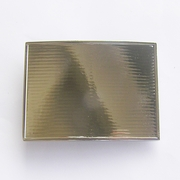 Bright Silver Rectangle Blank Belt Buckle