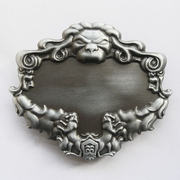 Antique Brushed Lion Blank Belt Buckle