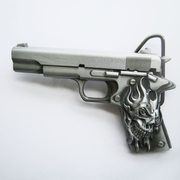 Belt Buckle (Skull Tattoo Hand Gun)