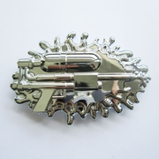 Belt Buckle (Bright Silver Water Gun)