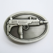 Belt Buckle (Oval Uzi Machine Gun)