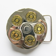 Gun Spinner Bullet Western Belt Buckle