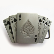 Royal Flush Spade Casino Lighter Belt Buckle