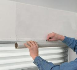 """ROLL SELF ADHESIVE SPRAY BOOTH  WHITE WALL PROTECTIVE FILM - 36"""" X 100' <BR> <FONT SIZE=""""1""""><i>[RB443]</i></FONT SIZE=""""1"""">"""