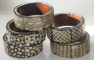 SURevolution Tribal-Printed Wood Bangles