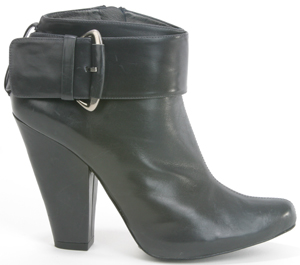 Pura Lopez Buckle-Detail Retro Ankle Bootie