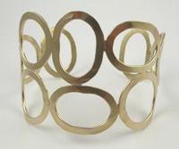 Rebecca Norman Oval 14K Gold Vermeil Bubble Cuff