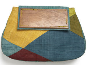 Mad Imports Carmen Multi Woven Clutch