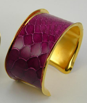 Rebecca Norman Pink Snake Abstract Cuff