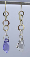 Rebecca Norman Circle and Crystal Drop Earrings