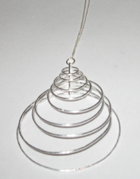 Soixante Neuf Sterling Silver Graduated Circle Necklace