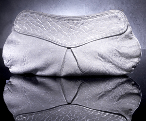 Great by Sandie Metallic Oversized Leather Clutch