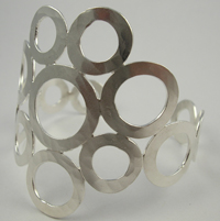 Rebecca Norman Round Sterling Silver Bubble Cuff