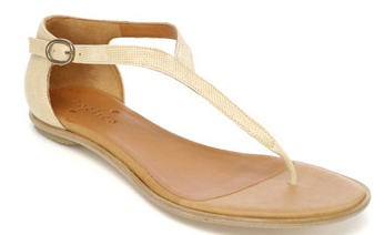 Coclico Snake-textured thong sandal