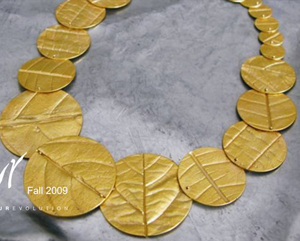 SURevolution Leaf Imprint Coin Necklace