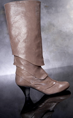 Sinela Multi-Pleat Cone Heel Boot