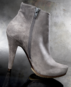 Pura Lopez Round Toe Suede Ankle Bootie