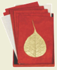 Bodhi Leaf Handmade Boxed Notes