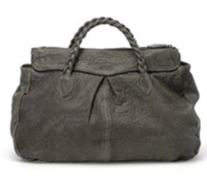 Great by Sandie Braided-Handle Leather Handbag
