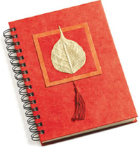 Handmade Bodhi Leaf Journal
