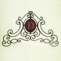 Iron Scroll Monogrammed Wall Grille