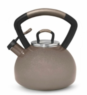 KitchenAid 54496 Porcelain Enamel on Steel Soft Grip Teakettle, Cocoa - click to enlarge