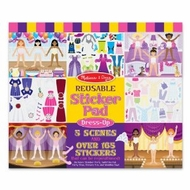 Melissa and Doug Reusable Sticker Pad - Dress-Up - click to enlarge