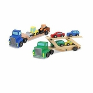 Melissa and Doug Car Carrier & Low Loader Bundle - click to enlarge